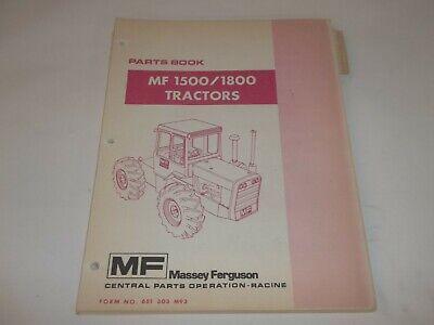 Massey Ferguson Mf1500 Mf1800 Tractors Parts List