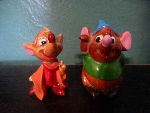 Vintage Disney Cinderella Gus & Jaq Mice WDP Japan Figurines
