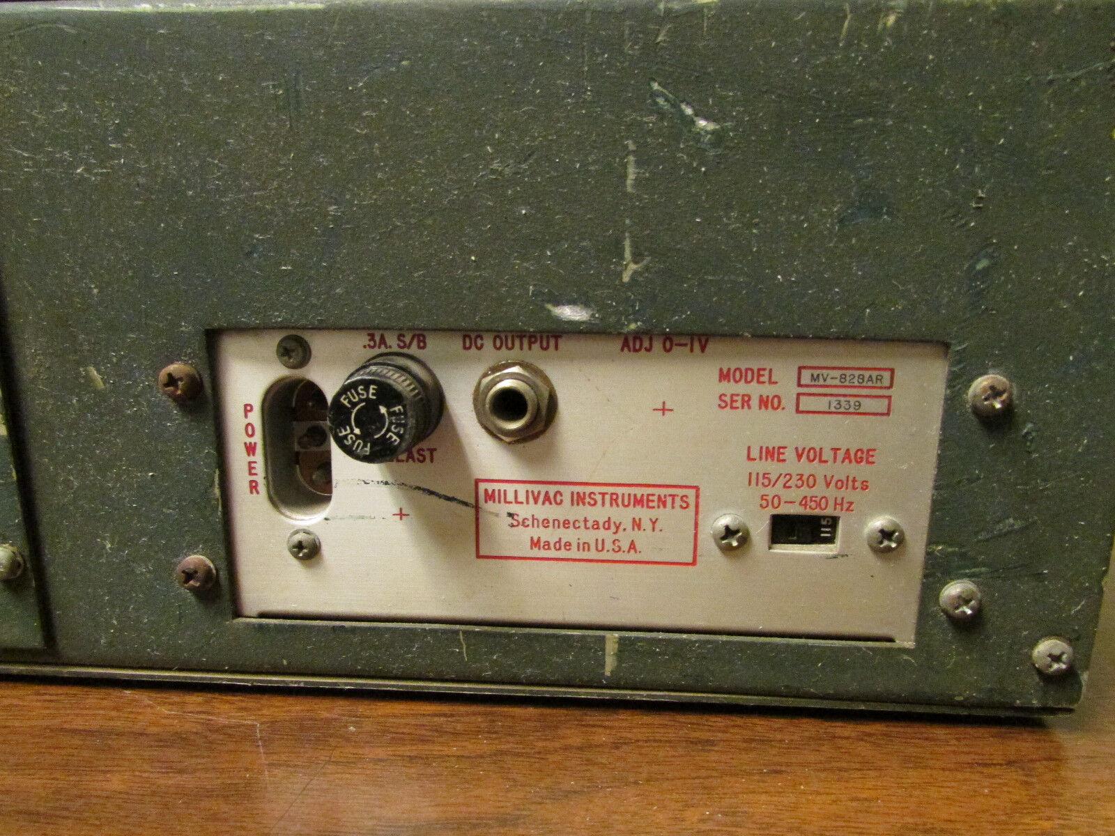 Millivac Instruments Mv 828ar Rf Milli Voltmeter Millivoltmeter 4 Of See More