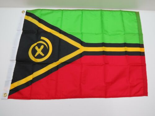 24 inch x 36 inch Vanuatu O/D Nylon Signal Flag Pennant -(C2.5B426)