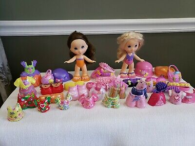 FISHER PRICE~SNAP N STYLE DOLLS~39 Pieces W/37 ACCESSORIES~2 DOLLS~