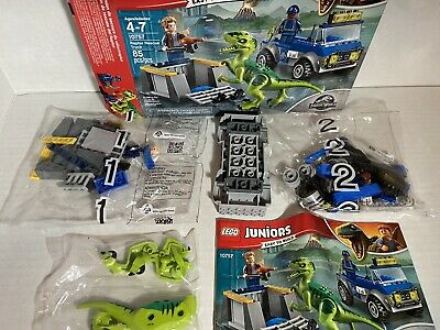 LEGO Juniors Jurassic World Raptor Rescue Truck 10757 NEW No BOX