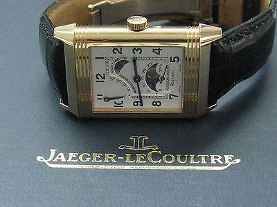 Jaeger LeCoultre 18Kt Reverso Sun-Moon Rose Gold Watch