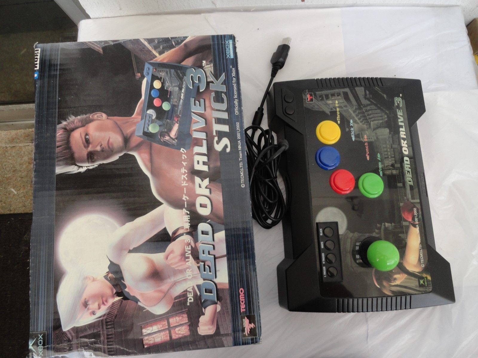 Xbox Hori Dead Or Alive 3 Stick Rare Joystick Controller Japan Ebay 2002 L300 Radio Wiring Color Stock Photo
