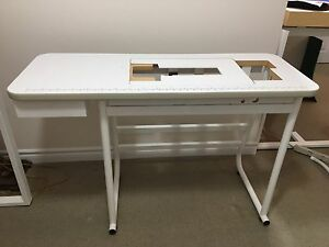 Sewing table with drawer