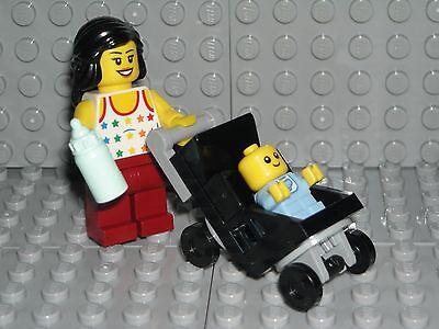 LEGO Baby Minifigure Mom / Stroller Shower Cake Topper Decoration - Lego Baby Shower