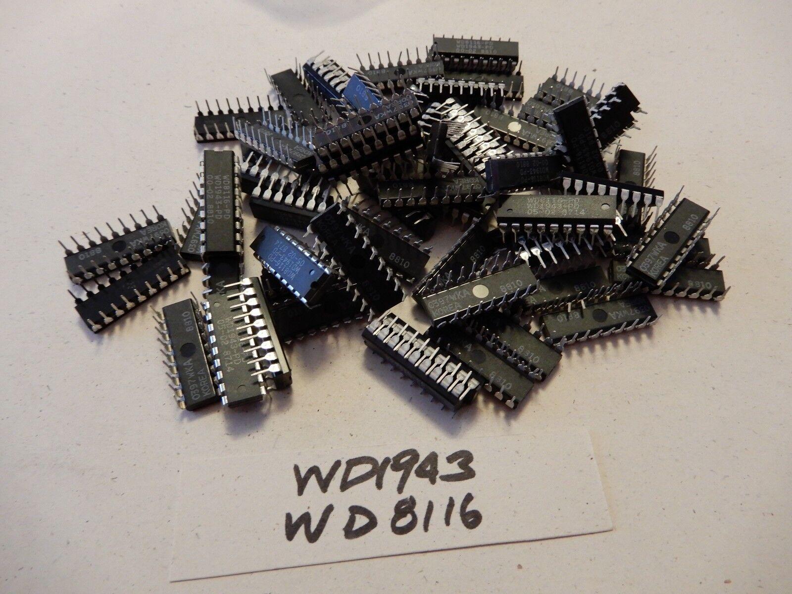 Huge Lot of Western Digital WD1943 WD8116 Dual Baud Clock Rate IC's Qty 30+ BGX