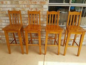 Bar stools timber x 4 good condition East Corrimal Wollongong Area Preview