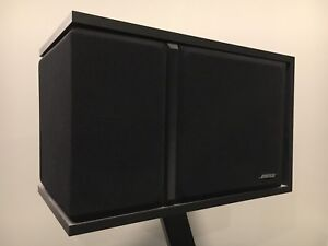 Bose surround sound speaker set with stands and mounts