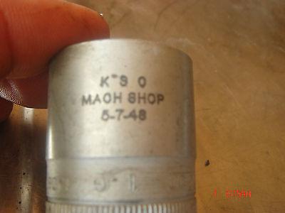 Vintage 1948 Snap On socket SW 320 1/2  - 1/2