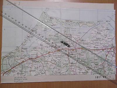 MdI Volkspolizei Korrekturvorlage Karte Ribnitz-D./Darß/Stralsund Reg.1011 69