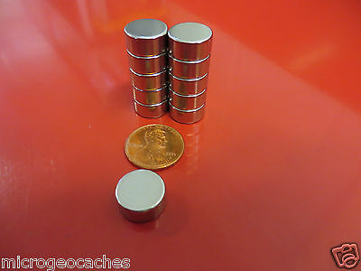 10 Large 1/2 x 1/4 inch Neodymium Disc Magnets Super Strong Rare Earth Magnet
