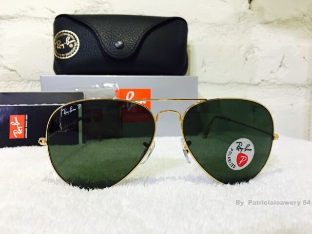 ray ban polarized aviator rb 3025 gold 001 58mm glasses