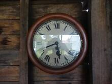 Antique fusee English TimeSide Railway/wall clock- can post Armidale City Preview