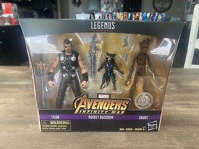 Marvel Legends Thor Rocket & Teen Groot TRU Infinity War Exclusive Triple Pack