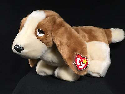 Ty Beanie Buddy • TRACKER™ Basset Hound Dog Puppy 1998 Retired NEW MWMTS