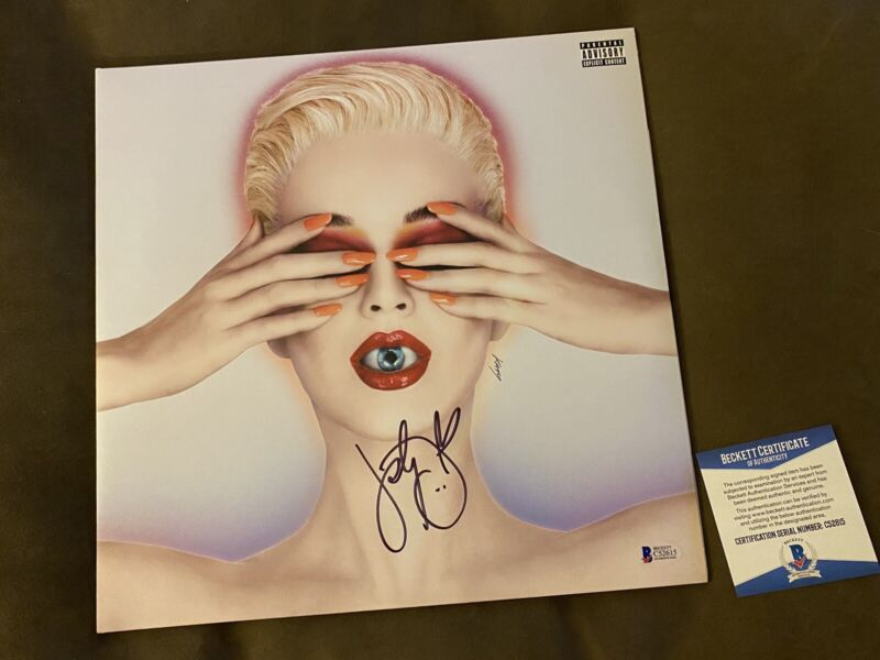 KATY PERRY SIGNED AUTOGRAPHED LP VINYL RECORD WITNESS-BECKETT BAS COA