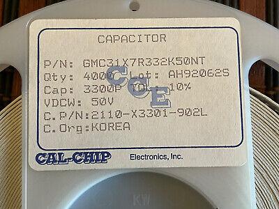 Ceramic Capacitor 3300pf 50v Smd 1206 2500 Pcs