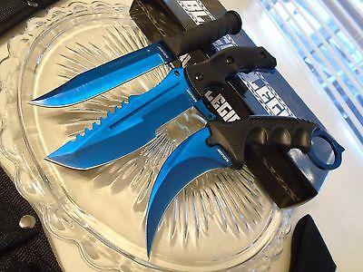 Black Legion Blue Tini Csgo 3 Knife Knives Set Small Bowies Karambit Huntsman