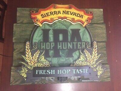 SIERRA NEVADA BREWING ALE NEON LED BEER SIGN ZEON HOP HUNTER IPA RARE Sierra Nevada Ipa