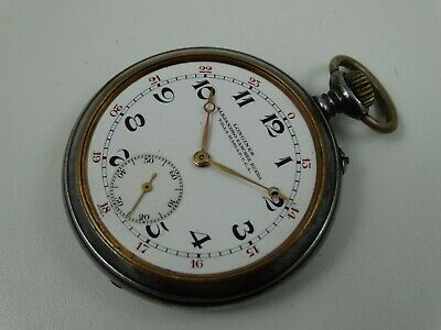 OLD LONGINES OPEN FACE POCKET WATCH CAL 18.49 - HIGH GRADE MOVEMENT