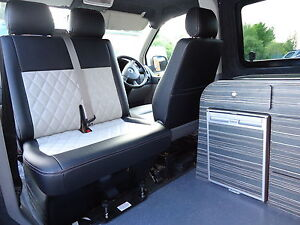 VW T4 T5 Kiravans Double Swivel seat base installation RHD & LHD camper day van