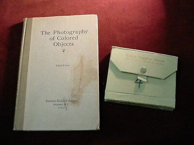 EASTMAN KODAK Photography Of Colored Objects 1926 + 1910s KODAK NEGATIVE ALBUM