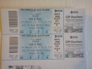 2x   Dan and Phil PERTH bronze ticket URGENT sale........ Bexley Rockdale Area Preview