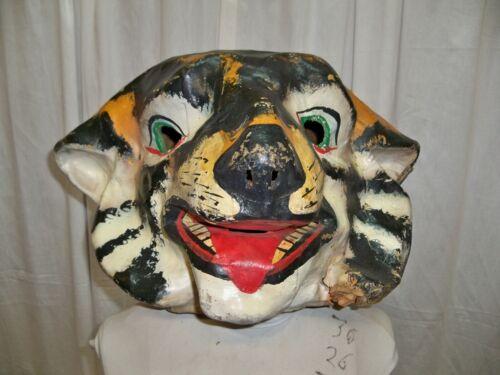 Full Head Mask Tiger or Big Cat head - Vintage 1950-