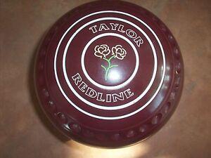 Taylor REDLINE Lawn Bowls Size 2H WB16 Maroon Dimple Grips V.G.C Surfers Paradise Gold Coast City Preview
