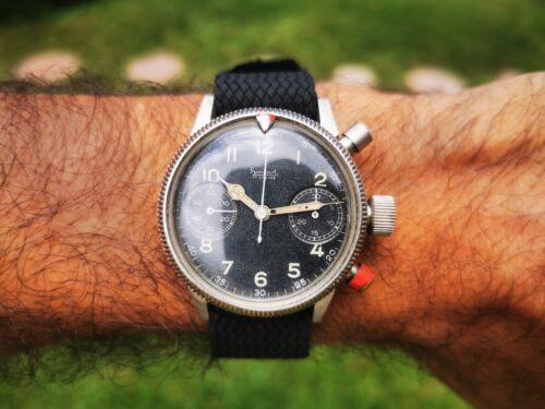 Hanhart Tutima Glashutte Chronograph Military Pilots Flieger Men's Wristwatch… - watch picture 1