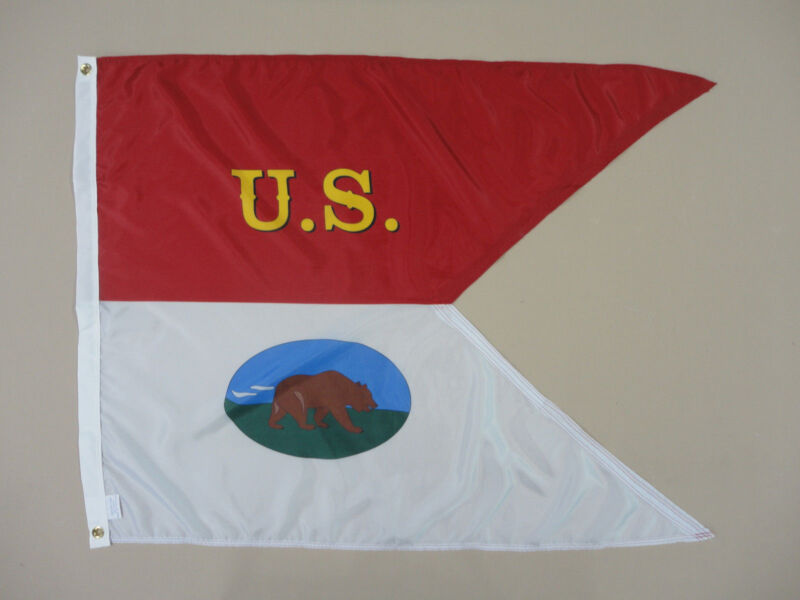 2nd MA Cavalry California Historical Indoor Outdoor Dyed Nylon Flag Guidon 3