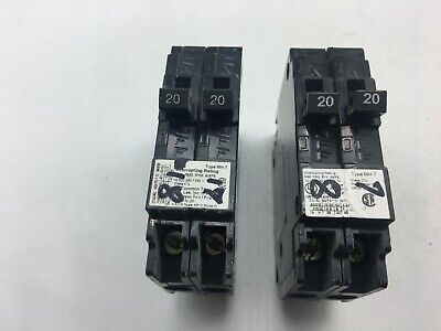 Murray Mp2020 Twin Tandem 20a 120240-v Circuit Breaker Lot Of 2