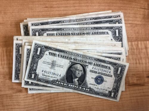 1935 or 1957 One Dollar Blue Seal Note Silver Certificate Old US Bill $1 Money