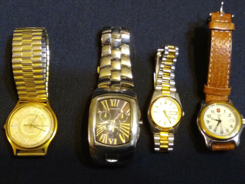 Lot of Four Watches / Date, Chromometer - Need Batteries
