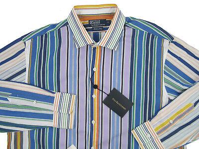 Extra Slim New $450 Luigi Borrelli Brown Shirt EV061247STR1