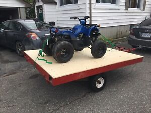 6x8 aluminum trailer ready to use $600 location coniston