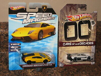 Hot Wheels Lot of 2 Lamborghini Murcielago LP 670-4 SV Speed Machines Decades