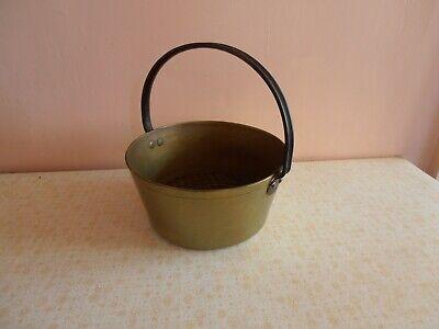 vintage brass Jam pot heavy 10