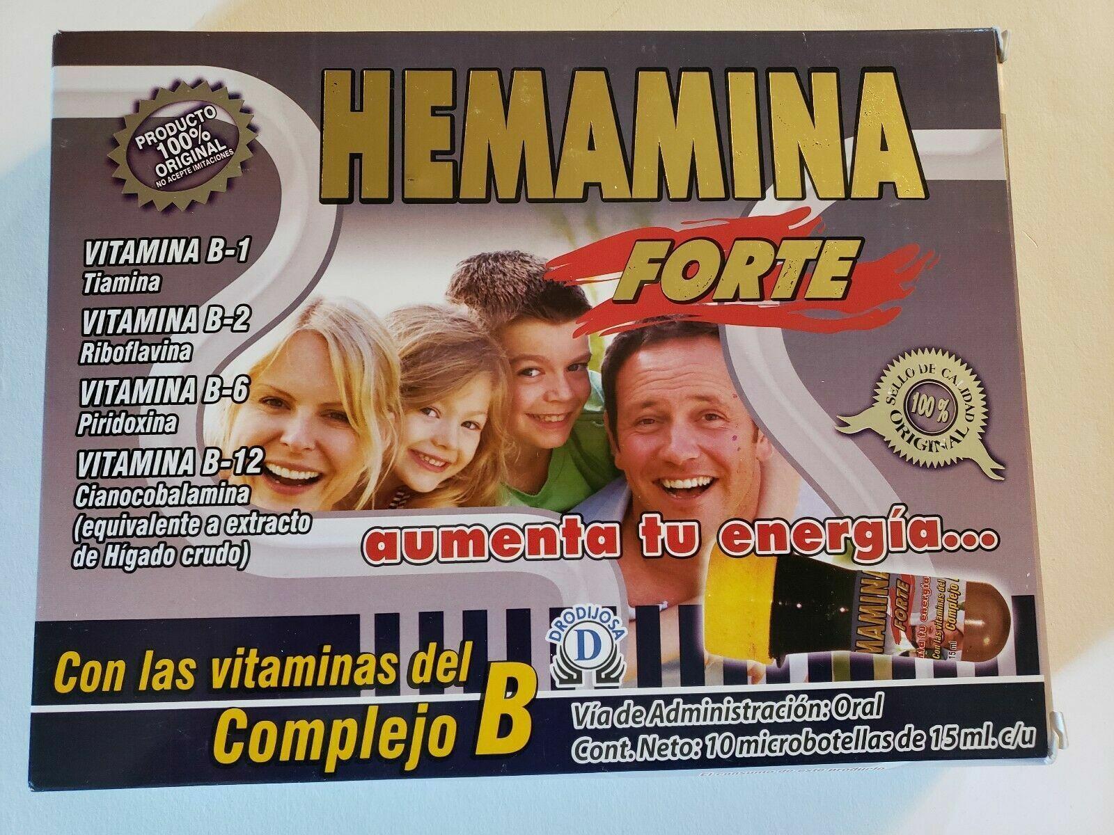 HEMAMINA FORTE ENERGY BOOSTER/ COMPLEJO B ENERGIZANTE EN MICROBOTELLAS 10