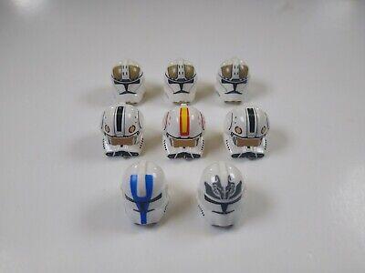 8 Lego Star Wars Clone Trooper Helmets Phase II Gunner Pilot 501st Wolfpack g13