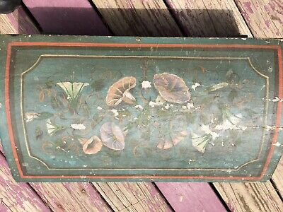**SALE**. American Antique Pine Dome Top Painted Wood Box Antique Pine Wood