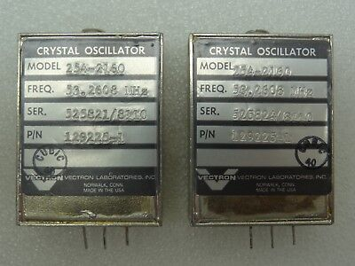 Lot Of 2 Vectron Model 254-2160 Crystal Oscillators Pn 129225-1 53.2608 Mhz