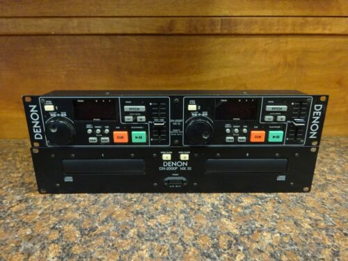 Denon DN-2000F RC-35  Dual Rackmount CD Player & Controller (B-4)