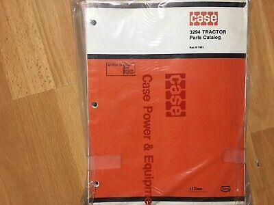 Case 3294 Tractor Factory Original Parts Catalog Unused In Plastic Oem
