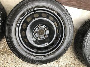 VW steel rims with snow tires