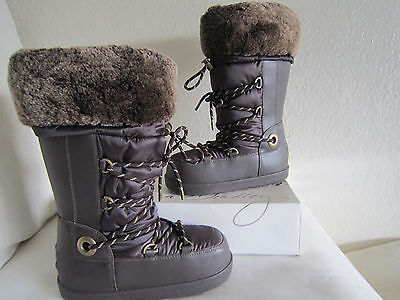 New Ugg Australia Cottrell Winter Brown Water Resistant Moon Snow Boots 5