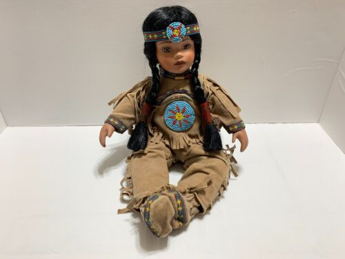 Timeless Collection Native American Indian Doll Limited Ed. Porcelain 910/2500