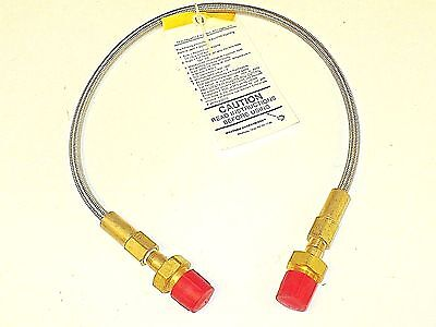 New Western Gas Stainless Steel Pigtail With Brass Ends  Pf 92 24  Free Shipping