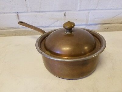 Sterling Sauce Pan (Lagco Bronze Sterling Lined Sauce Pan with Lid and Pour Spout )